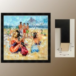Custom Art Wood Frame Contemporary High End Quality 455