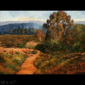 California's Gold - original large landscape oil painting on canvas