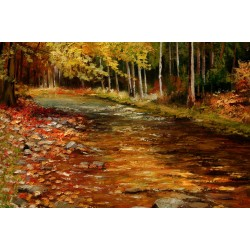 The Autumn Stream - river landscape