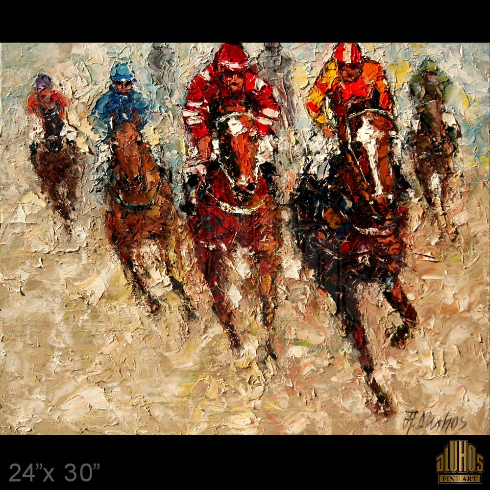 andre dluhos horse racing thoroughbred jockeys texture original